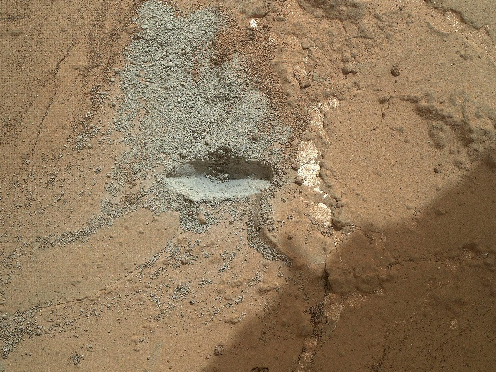 Mars probe Curiosity Drilling activities