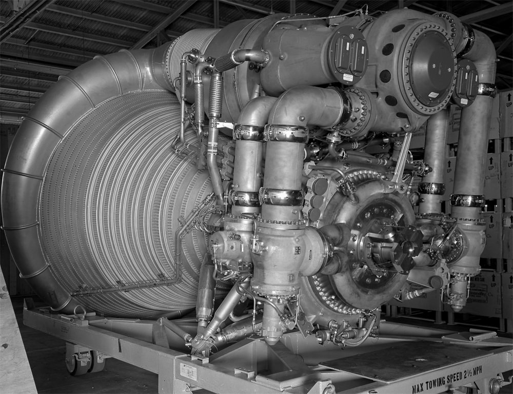 Bir F-1 motorunun 1963 yılında çekilen fotoğrafı.