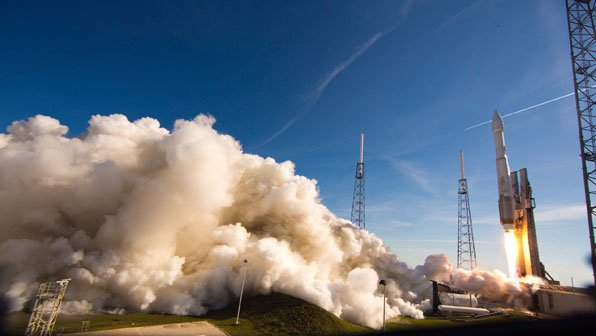 Launch of Atlas V GPS IIF-4 from Cape Canaveral AFS