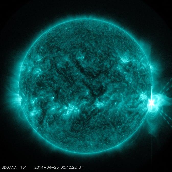 Güneş'te Şiddetli Bir Patlama Meydana Geldi