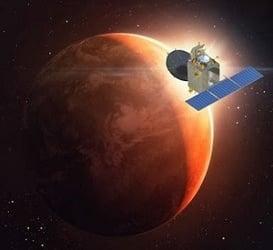 Hindistan'ın Uydusu Mangalyaan Mars'ın Yörüngesine Yerleşti