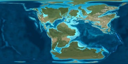 Dünya'nın 150 milyon yıl önceki hali.