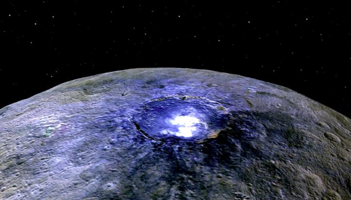 Cüce Gezegen Ceres'te Buz Olabilir