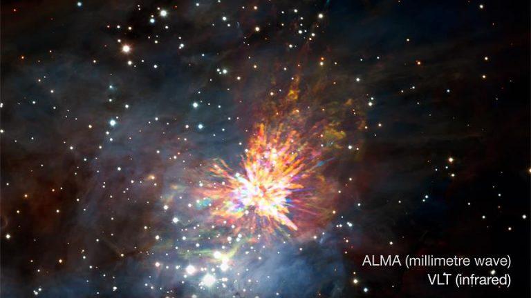 İki İlkel Yıldızın Şiddetli Çarpışması Kaydedildi