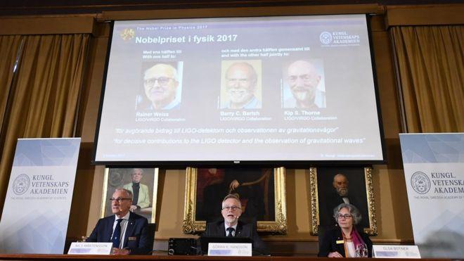 Nobel Fizik Ödülü Yerçekimsel Dalgaları Gözlemleyen Üç ABD'li Bilim İnsanına Verildi